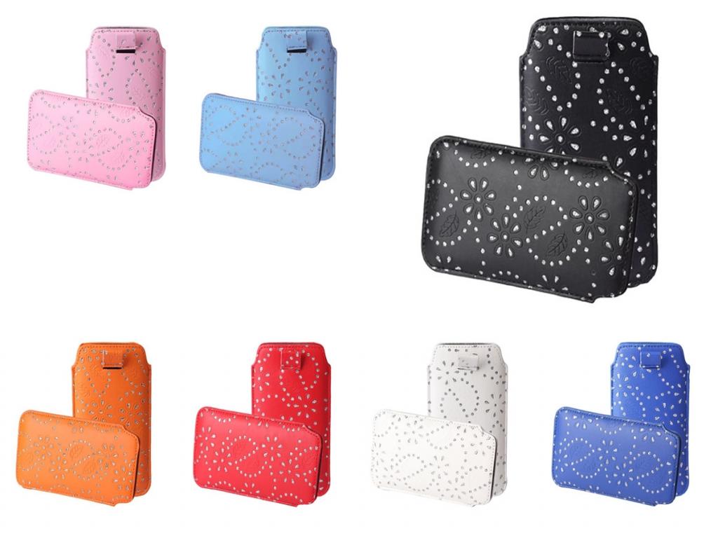 Bling sleeve voor uw samsung galaxy ace style (universeel m). deze trendy smartphone sleeve is helemaal bling ...