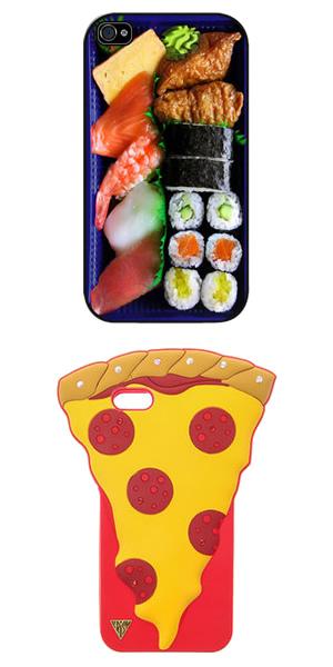 Sushi telefoon hoesje en pizza telefoon hoesje