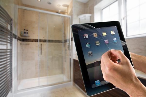 Screenprotector aanbrengen badkamer