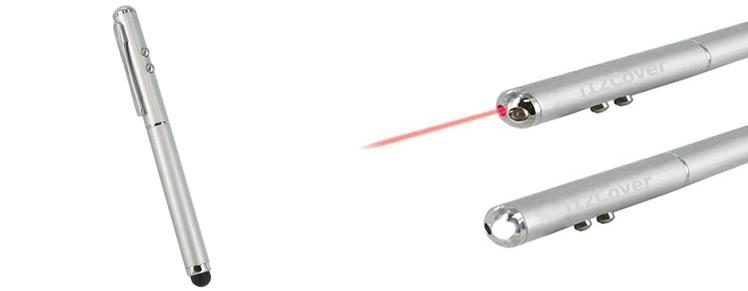 Nieuwe 3 in 1 Stylus met LED en Laserpointer