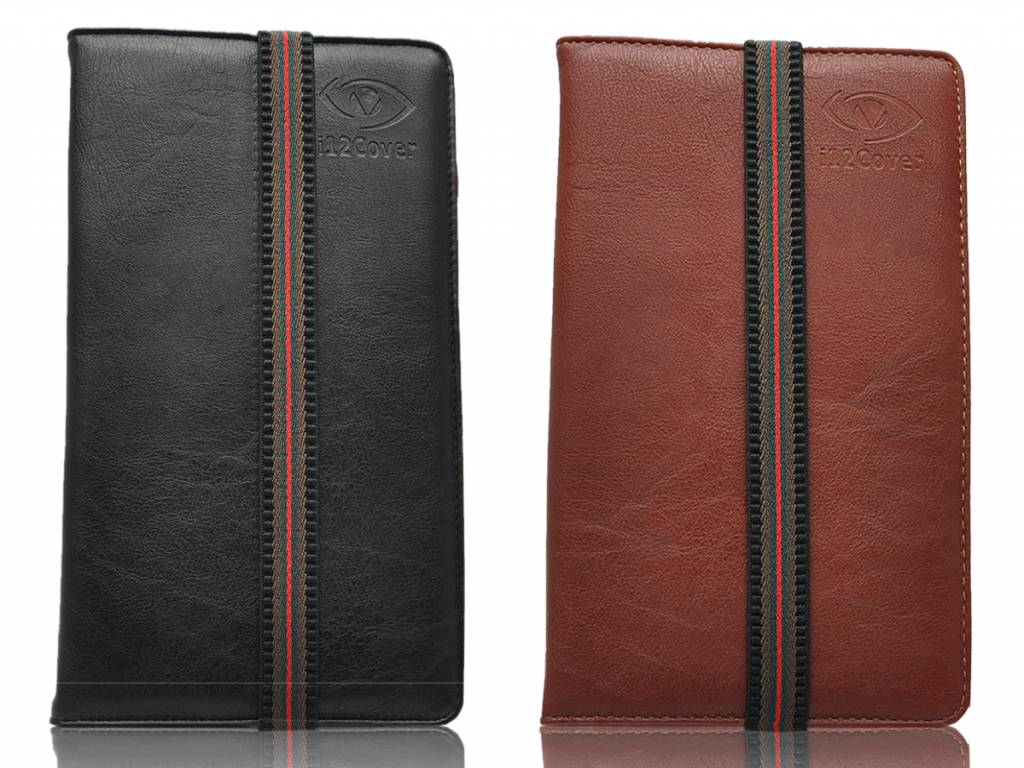Universele Smalle 7 inch Premium Tablet hoes in de kleur zwart en bruin voor de Hisense Sero 7 pro