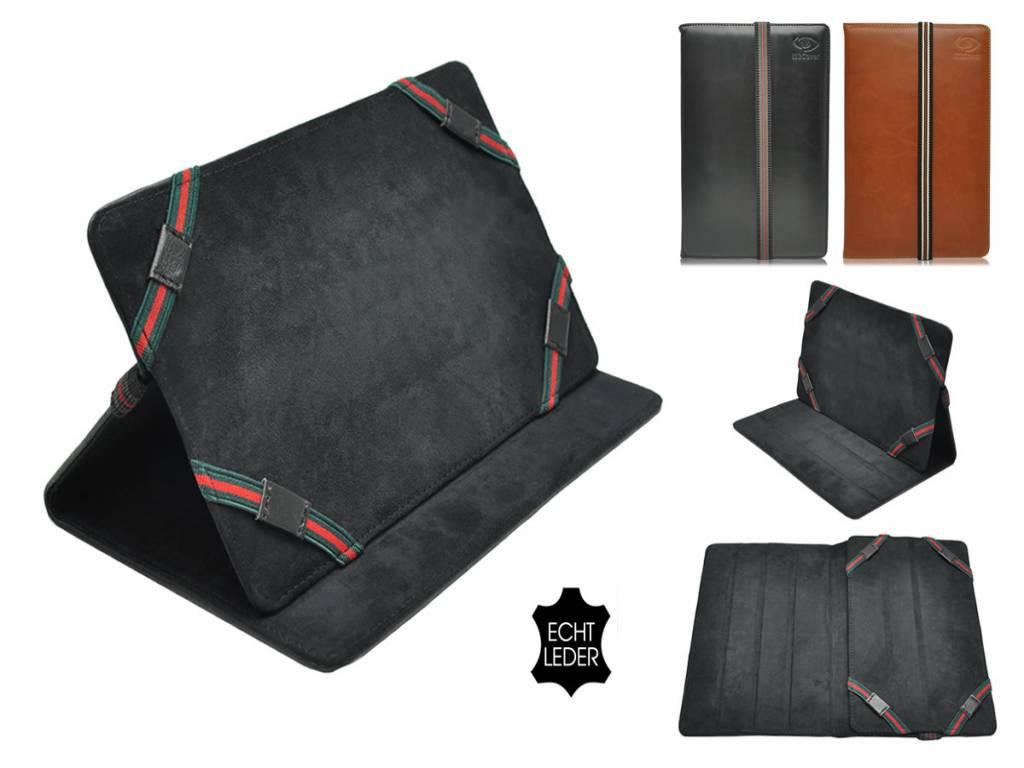 Universele 7 inch Echt Lederen Tablet hoes, verkrijgbaar in de kleur zwart en bruin voor de Qware Ebook reader
