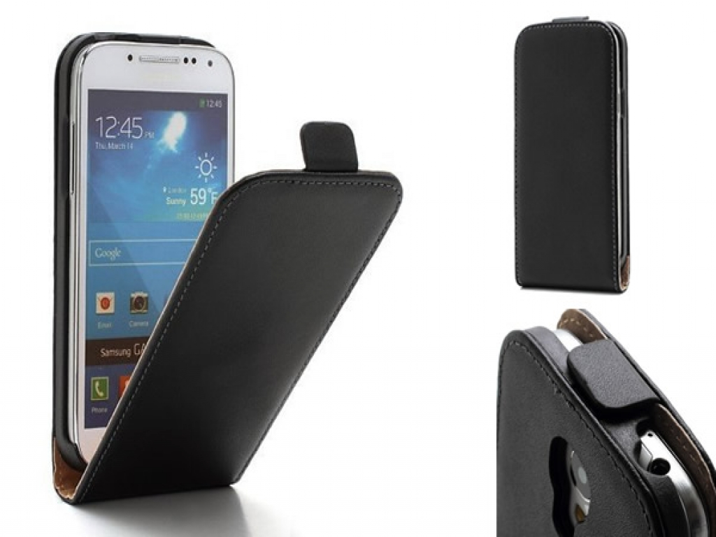 Leather Flip Case for Samsung Galaxy S4 Mini