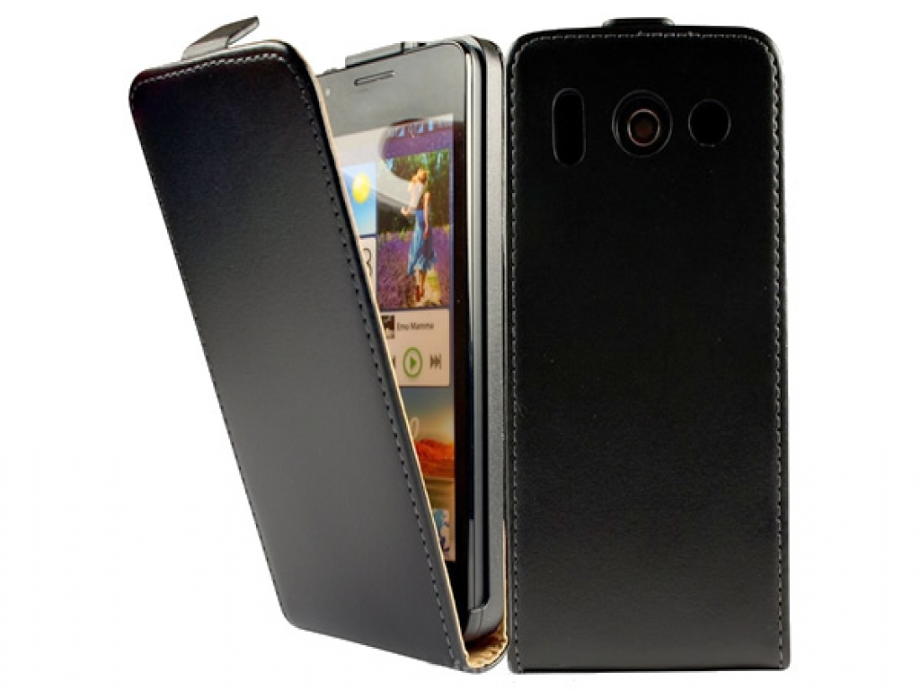 Leather Flip Case for Huawei Ascend G510