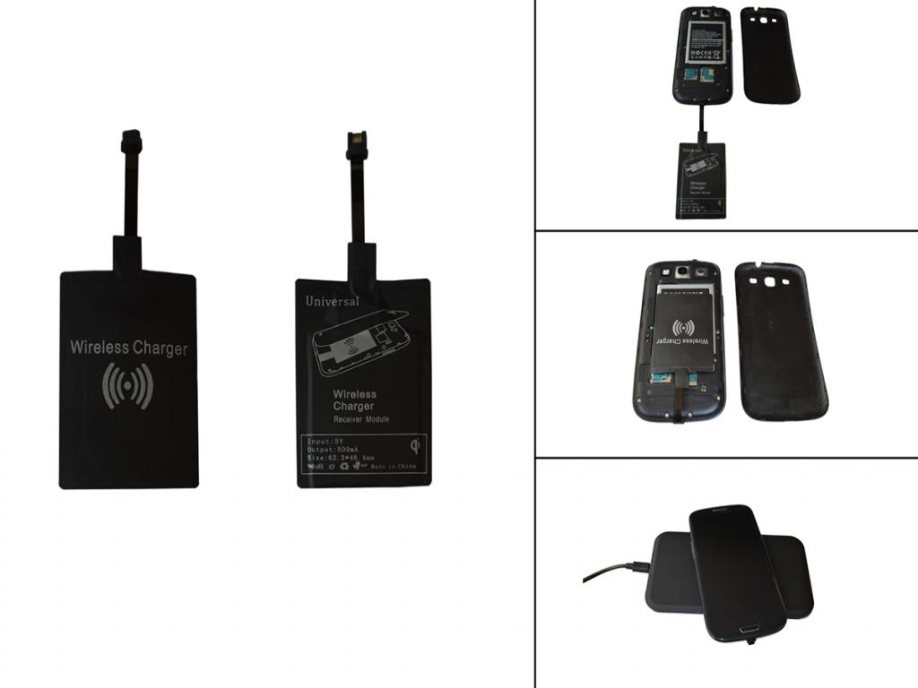Qi Ontvanger met Micro USB aansluiting voor General mobile Discovery 2