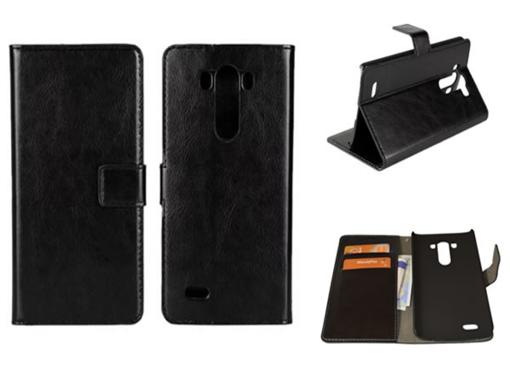 Leather Wallet Book Case for LG G3