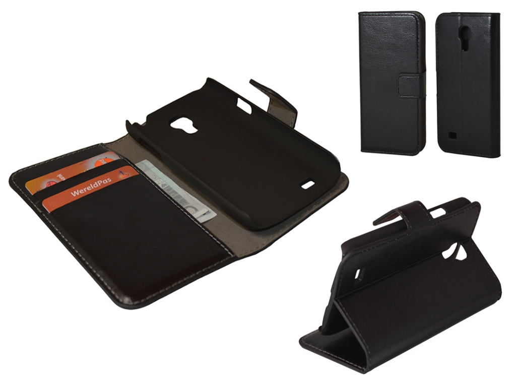 Leather Wallet Book Case for Samsung Galaxy S4 Mini