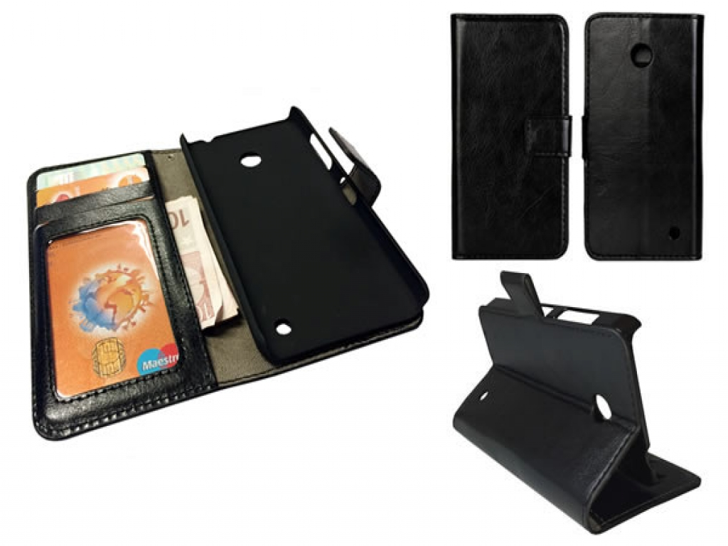 Leather Wallet Book Case for Nokia