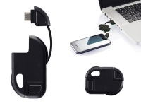 Micro-USB charging cable for Keychain