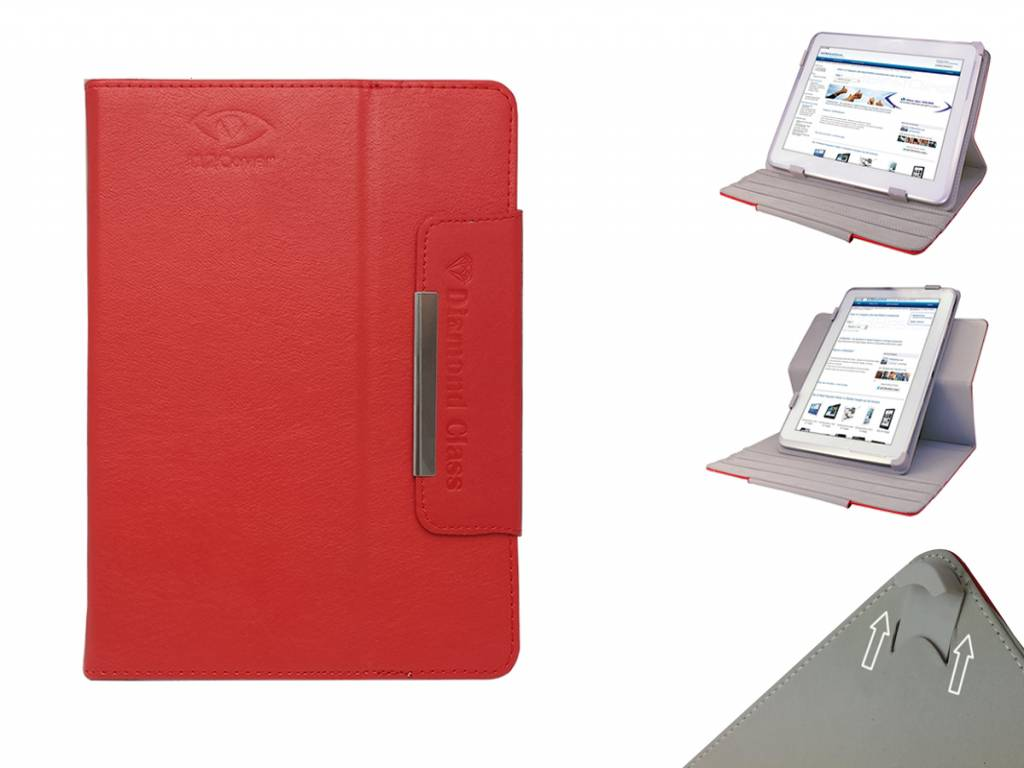 Universele 8 inch Diamond Class Case met 360 graden draaibare Multi-stand voor Qware Pro 3 8 inch