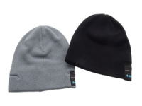 Beanie with built-in Bluetooth headset for