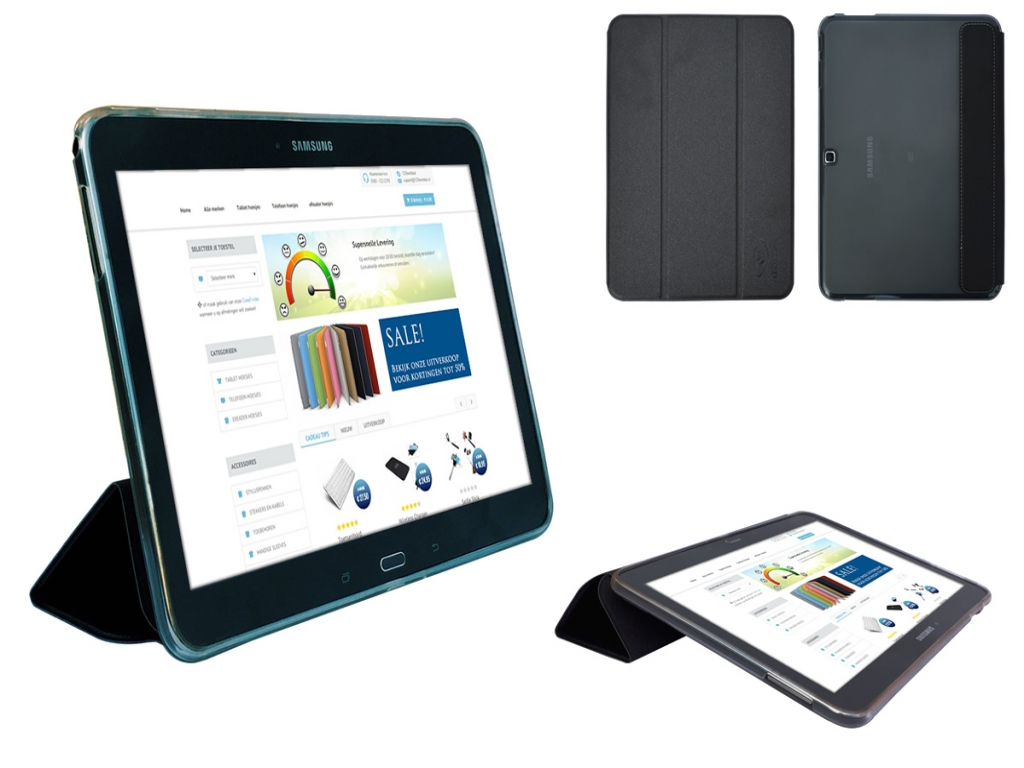 Samsung Galaxy Tab 4 10.1 Siliconen Case with TriFold cover