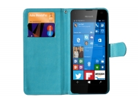 Luxe Book Wallet Case voor Fairphone Smartphone blauw