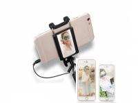 Compacte Mini Selfie Stick Universeel Universeel met spiegel