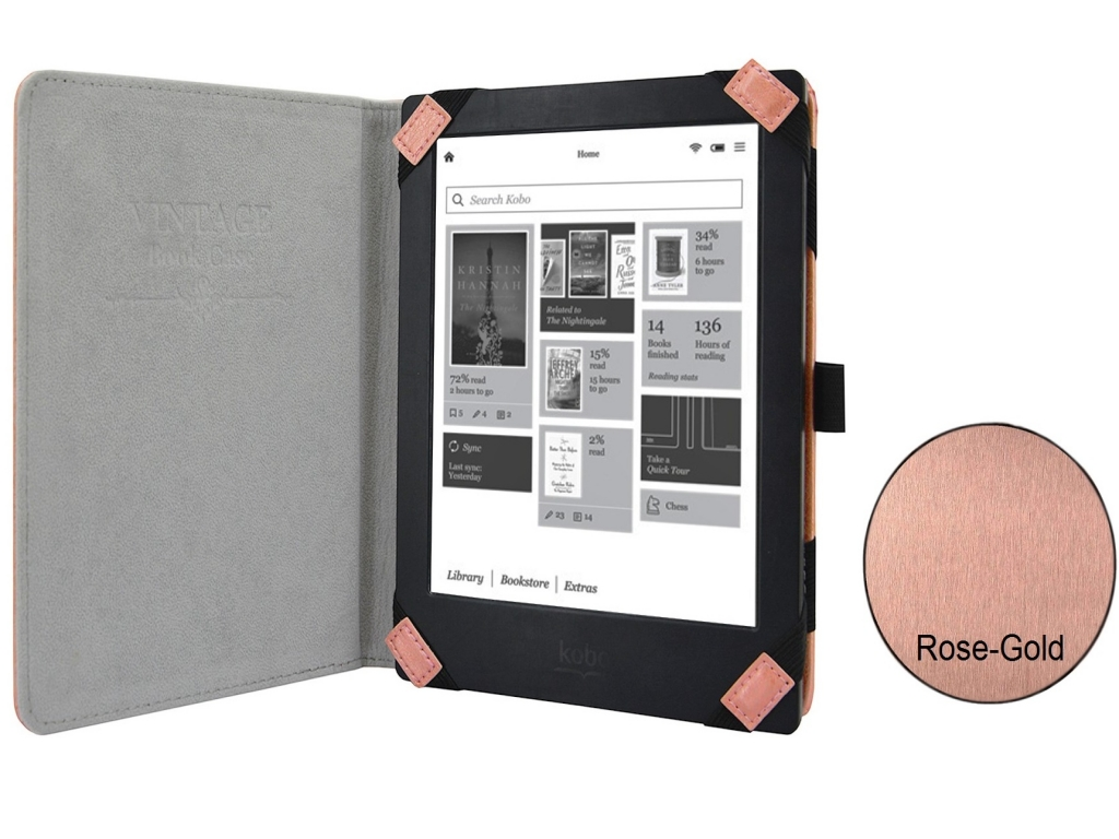 Carpe Diem Book Case   rose gold