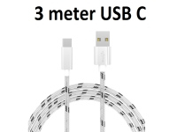 USB C kabel stof 3m voor Razer Phone