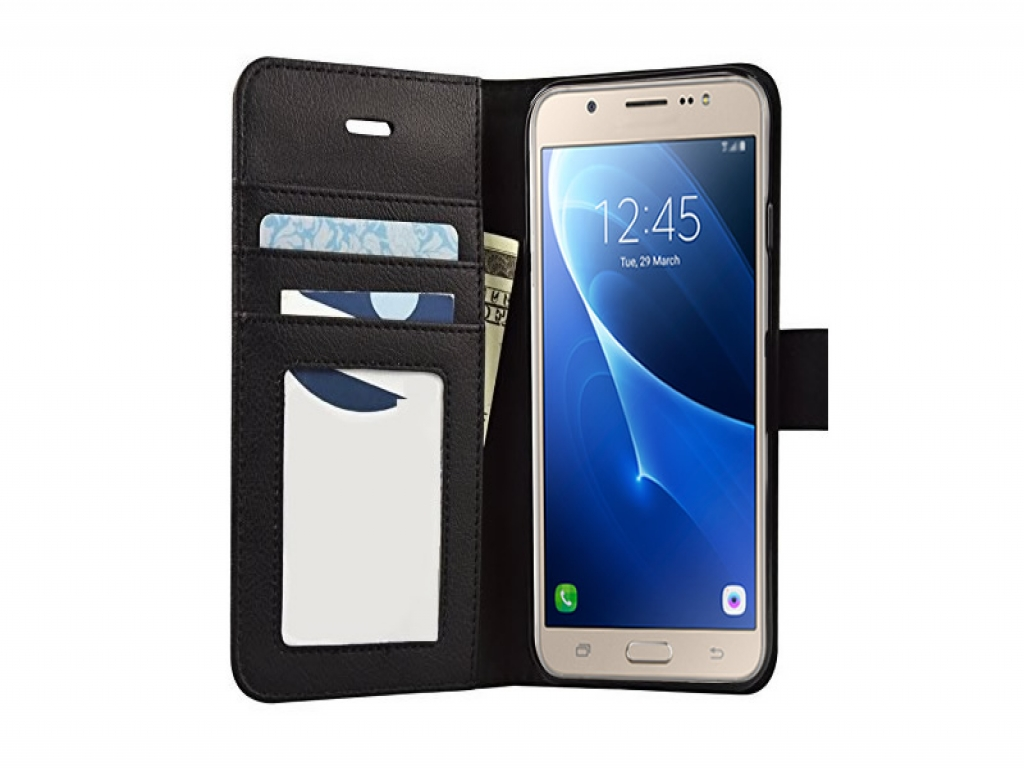 Leather Wallet Book Case for Samsung Galaxy J5