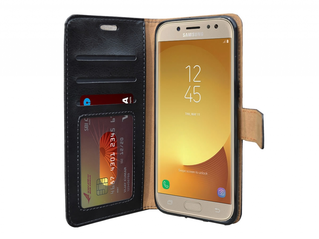 Leather Wallet Book Case for Samsung Galaxy J5 (2016)