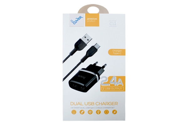 USB charger 2400mA   including USB-C cable