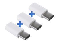 Verloopstekker Female Micro USB naar Male USB-C voor Razer Phone 3-Pack