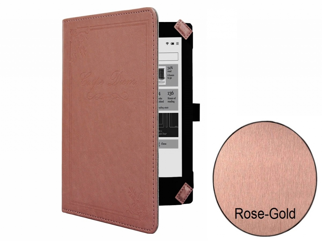 Rose-gold Book Case Carpe Diem for