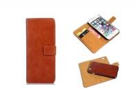 Luxe  Wallet Case met uitneembare houder Bruin