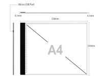 A4 LED licht Lichtbak / Tekentafel / Lichttafel / Lightpad / Lichtbox / Lightbox met 3 DIMBARE lichtstanden, o.a. voor Diamond Painting, fotografie, tekenen etc