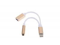 USB-C splitter | Male USB-C naar Female USB-C + 3.5mm Female