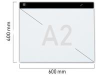 A2 LED licht Lichtbak / Tekentafel / Lichttafel / Lightpad / Lichtbox / Lightbox met 3 DIMBARE lichtstanden, o.a. voor Diamond Painting, fotografie, tekenen etc