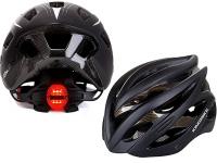 Lightweight bike helmet with rear light