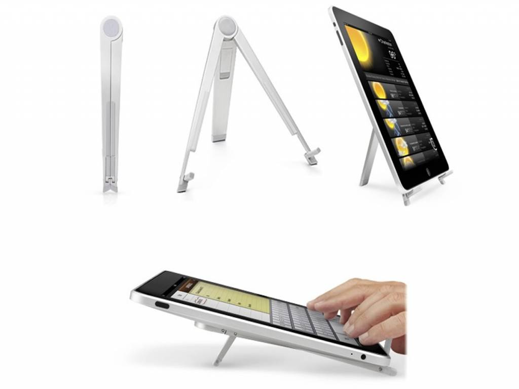 Fold-out stand for your