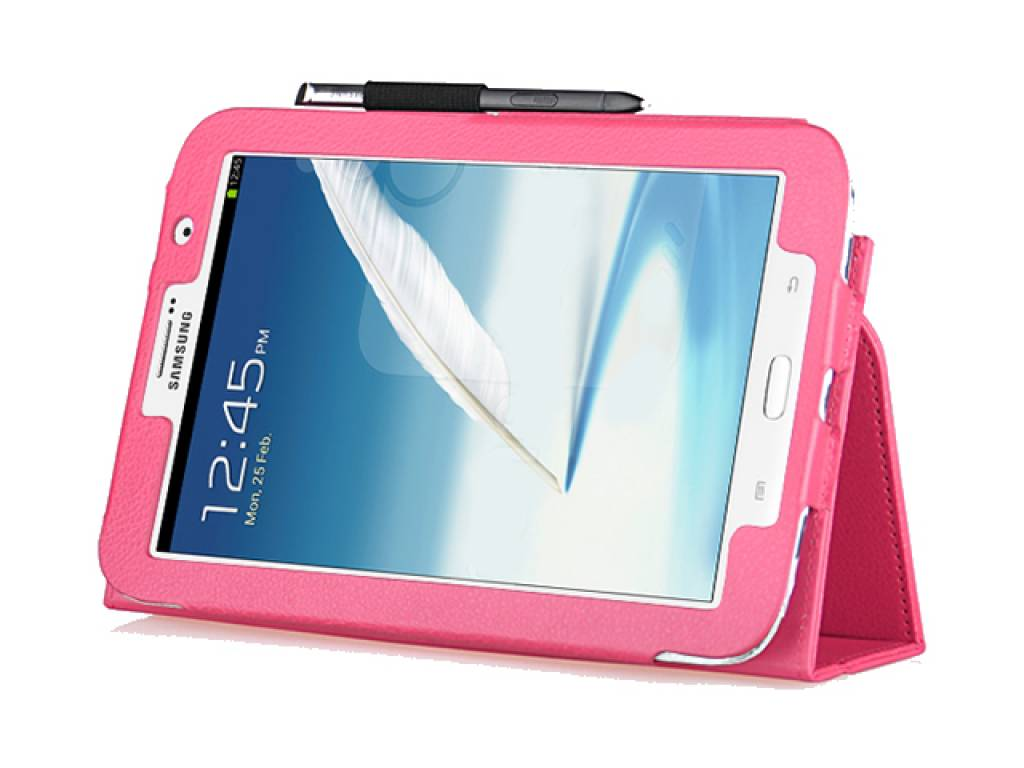 Premium Tablet Case with integrated stand for the   in pink