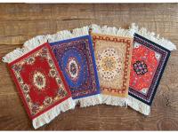 Perzisch tapijt stoffen onderzetters - set van 4 viltjes Kadotip!