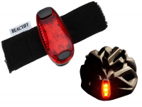 LED adjustable helmet and bike light | Red Rearlight