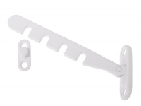 Window Restrictor in white, Stainless Steel