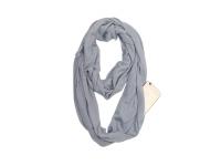 Fashion scarf with pocket (zip closure), Grey