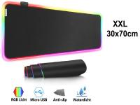Muismat Gaming XXL RGB LED 70x30cm bureau onderlegger | RGB Gaming Muismat | Mousepad | Pro RGB LED Muismat XXL | Anti-slip | Desktop Mat | LED | Computer Mat