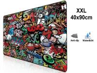 XXL Mousepad with Graffiti Design| anti slip | 90x40
