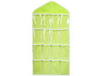 Closet organizer, 16 compartments (yellow), multifunctional