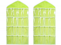 Duo-pack Closet organizer, 16 compartments (yellow)