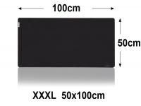 Muismat Gaming XXL 100x50cm bureau onderlegger XXXL | Gaming Muismat | Mousepad | Pro Muismat XXL | Anti-slip | Desktop Mat | Computer Mat | Zwarte uitvoering