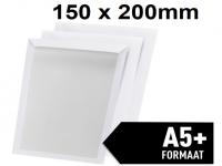 Bordrug enveloppen wit - 150 x 200mm (A5+) 100 stuks , envelop met verstevigde kartonnen rug.
