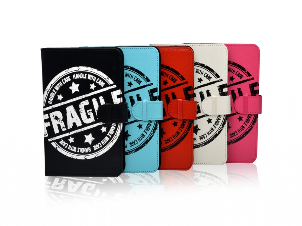 Fragile Print Case voor de Qware Tabby 7 inch