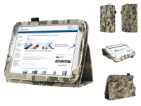 Stand Case for the   with camouflage print