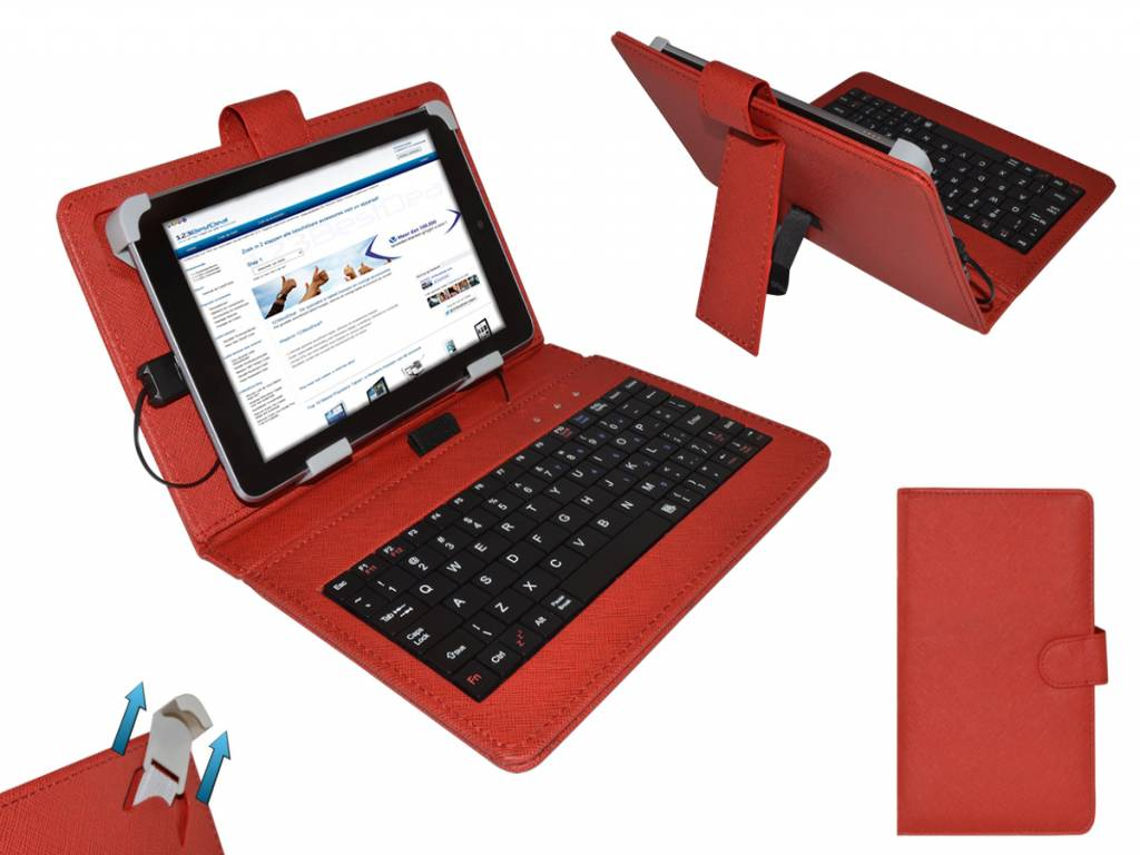 Red Keyboard Case for the   Tablet