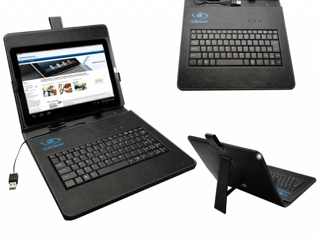 Zwarte Keyboard Case voor Universal 10.1 inch Tablet