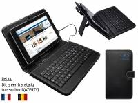 Black AZERTY Keyboard Case for the Dell Venue 8