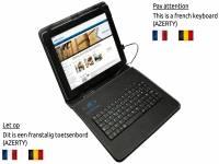 AZERTY Keyboard Case, kleur zwart voor Qware Tablet pro 4 slim 9.7 inch