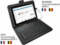 Black AZERTY Keyboard Case for the Hp Omni 10