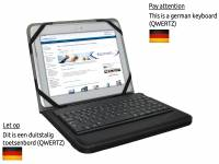 German QWERTZ Bluetooth Keyboard Case for